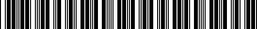 Barcode for PT2060220502
