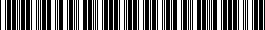 Barcode for PT90718190DC