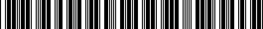Barcode for PT92542130AD