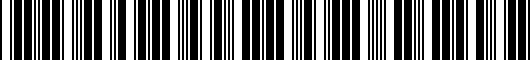 Barcode for PT9380313005