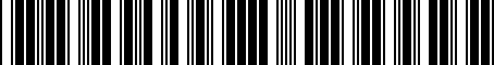 Barcode for PTR2734110